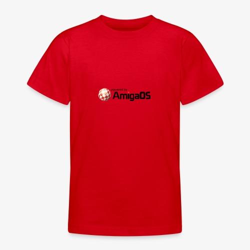 PoweredByAmigaOS Black - Teenage T-Shirt