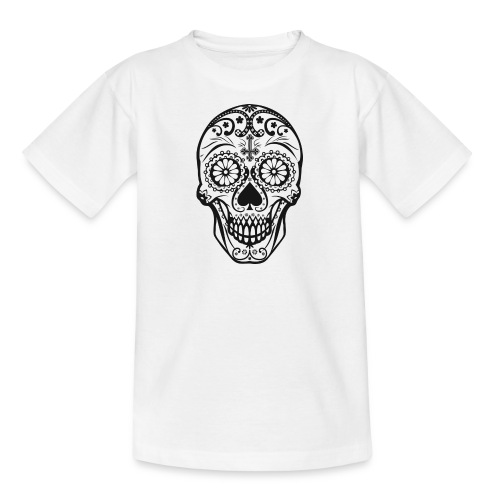 Skull black - Teenager T-Shirt