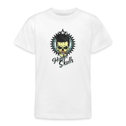 tete de mort hipster skull crane moustache logo co - T-shirt Ado