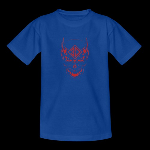 devil skull red - T-shirt Ado