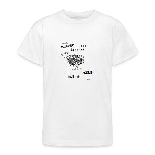 Tierlaut zweisprachig - Teenager T-Shirt