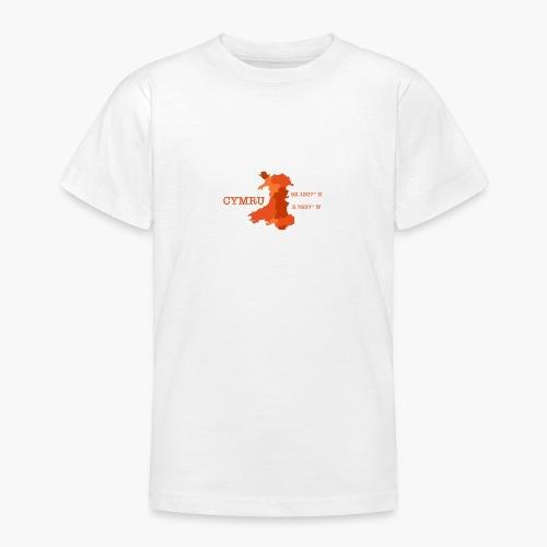 Cymru - Latitude / Longitude - Teenage T-Shirt