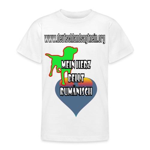 Herz bellt rumänisch - Teenager T-Shirt