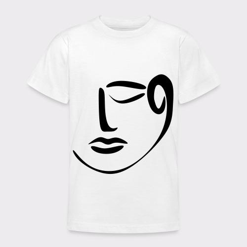 Achtsamkeit Meditation Ruhe Stille Lineart - Teenager T-Shirt