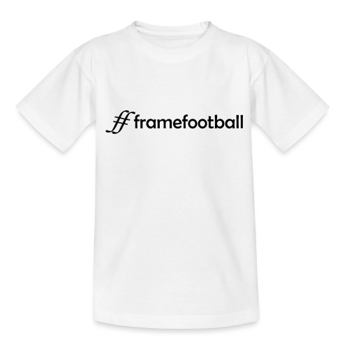 # Frame Football Black - Teenage T-Shirt