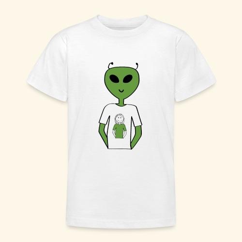 Alien human T-shirt T-shirt - T-shirt tonåring