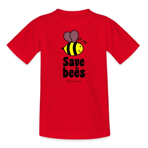 Bees9-1 save the bees | Bienen Blumen Schützen - Teenage T-Shirt