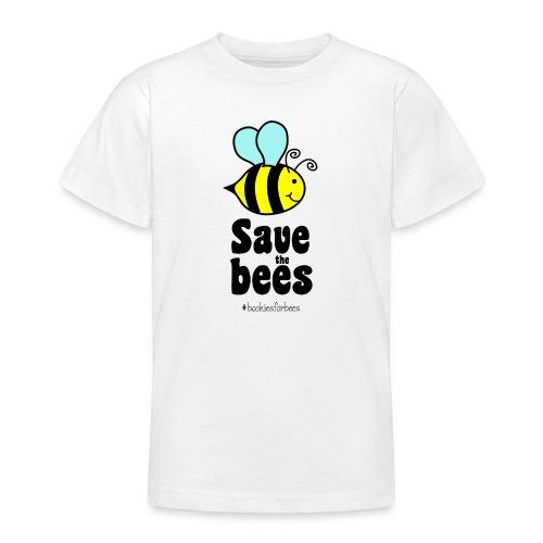 Bees9-1 save the bees | Bienen Blumen Schützen - Teenager T-Shirt
