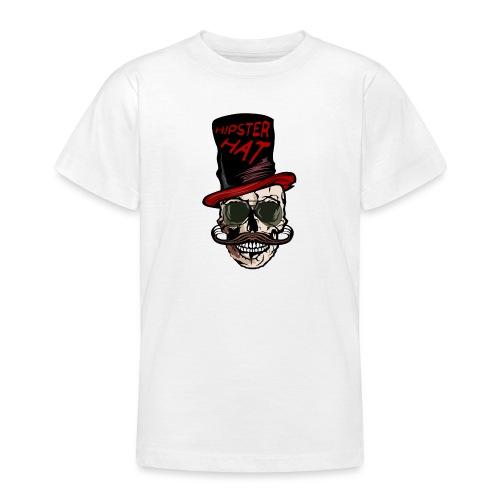 tete de mort hipster hat citation moustache crane - T-shirt Ado