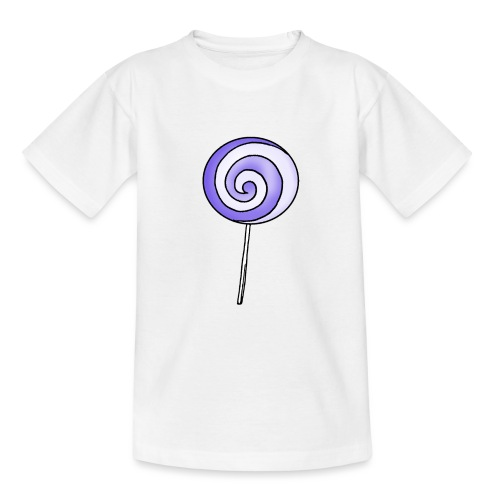 geringelter Lollipop - Teenager T-Shirt