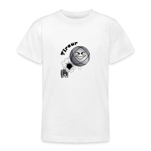 t shirt pétanque tireur boule existe en pointeur N - T-shirt Ado