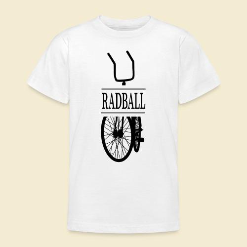 Radball   Retro Black - Teenager T-Shirt