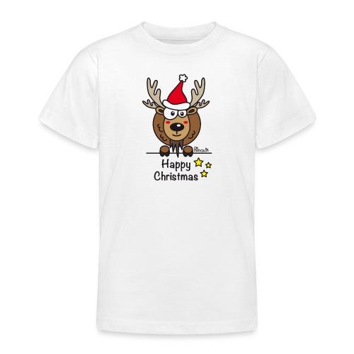 Renne Noël, Happy Christmas, Drôle, Humour, Santa - T-shirt Ado