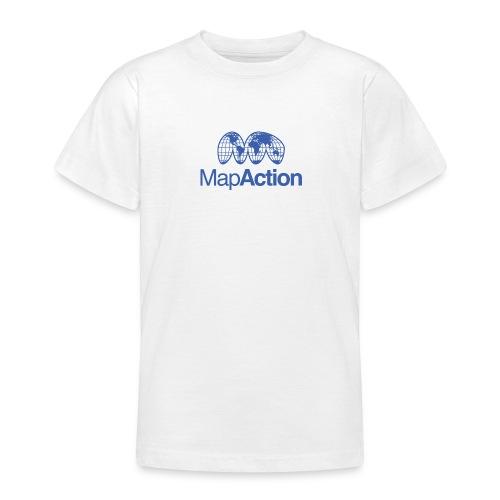 MapAction Blue on transparent - Teenage T-Shirt