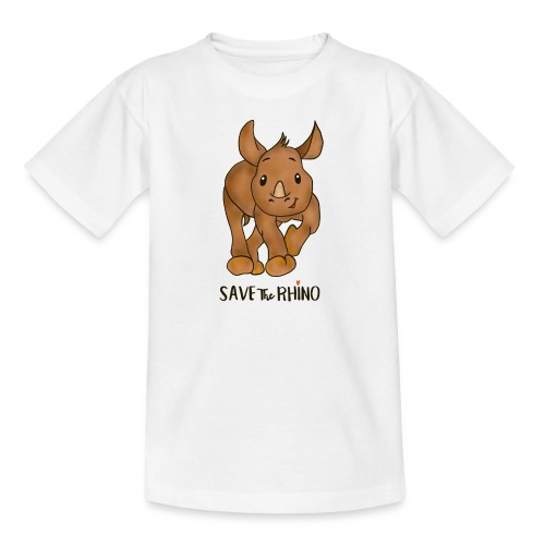 Save the Rhino - Teenage T-Shirt