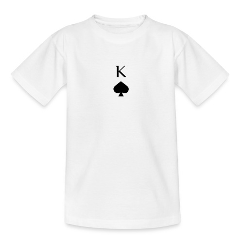 Sportlicher König Pik Poker Casino Print - Teenager T-Shirt