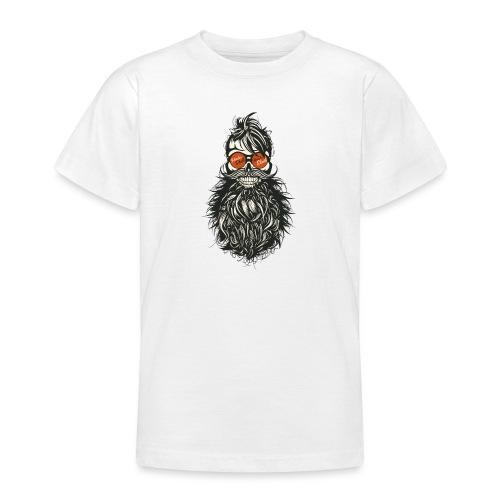 tete de mort hipster skull crane barbe moustache l - T-shirt Ado