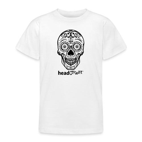 Skull & Logo black - Teenager T-Shirt
