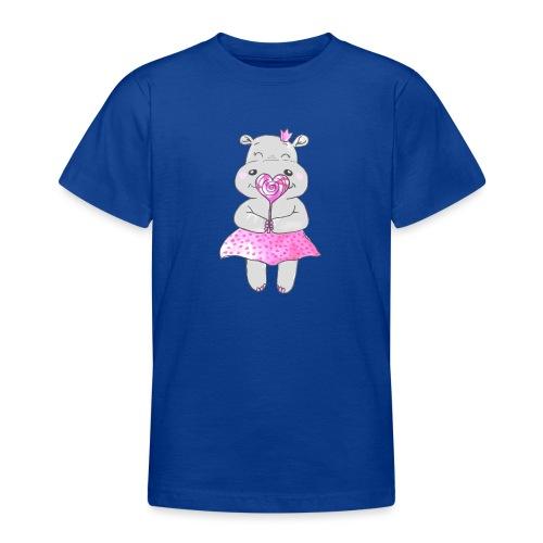 Happy Hippo - Teenager T-Shirt
