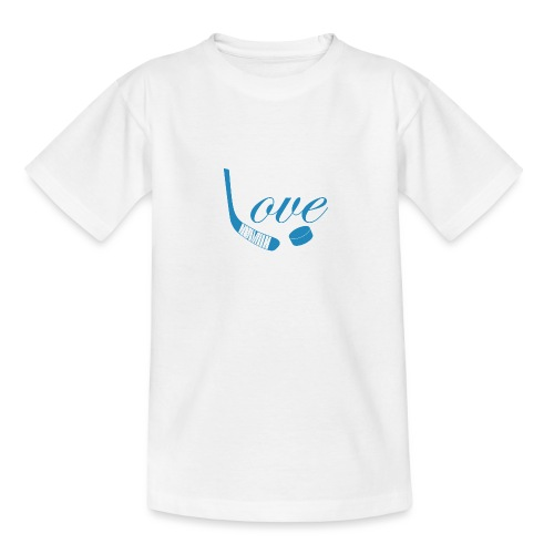 hockey love babyblue - Teenager-T-shirt