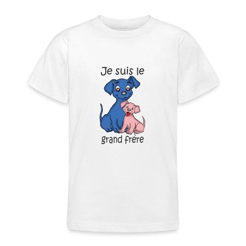 Je suis le grand frere chiot B - T-shirt Ado