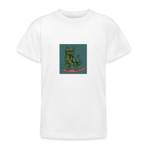 T-rex qui fait du surf - T-shirt Ado