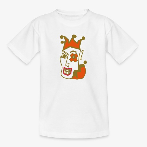 Crazy Jester by Brian Benson Men's Women's Premium - Teenage T-Shirt