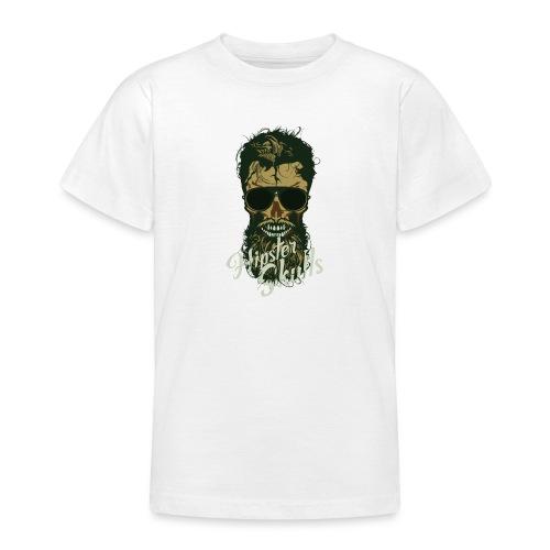 tete de mort hipster crane skull lunette de soleil - T-shirt Ado