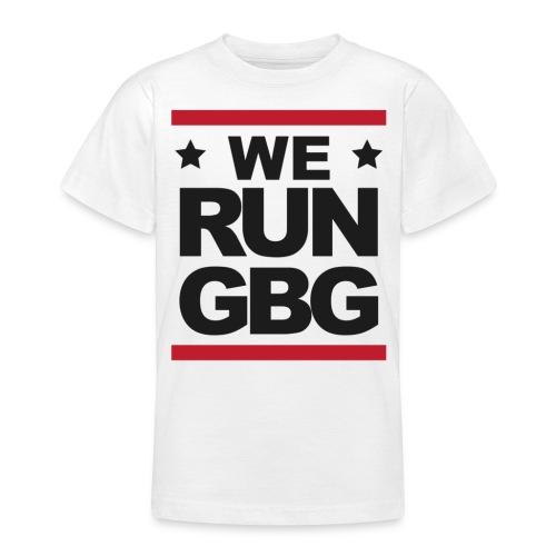 We run GBG svart tryck - T-shirt tonåring