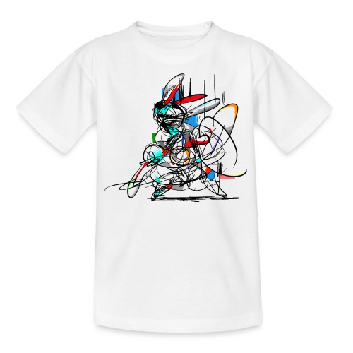 Ninja fighter Easter Bunny / Abstract - Teenage T-Shirt