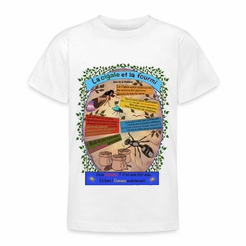 La Cigale et la Fourmi (Jean de la Fontaine) - Teenage T-Shirt