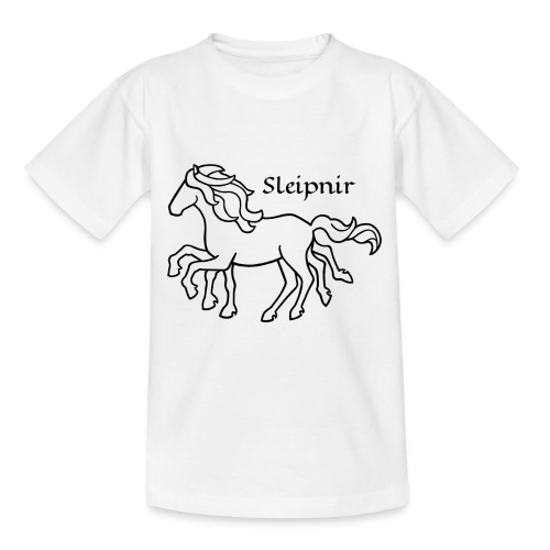 Sleipnir, schwarz - Teenager T-Shirt