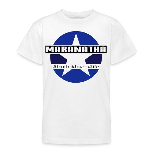 maranatha blau-braun - Teenager T-Shirt