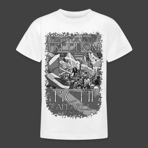 PICTFREE2b - BLACK & WHITE - Teenage T-Shirt