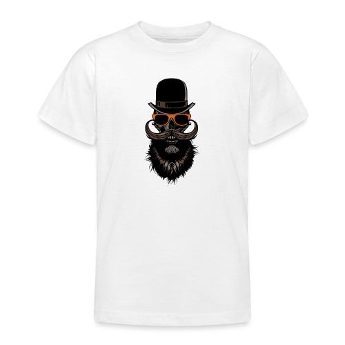 tete de mort crane hipster skull chapeau melon lun - T-shirt Ado