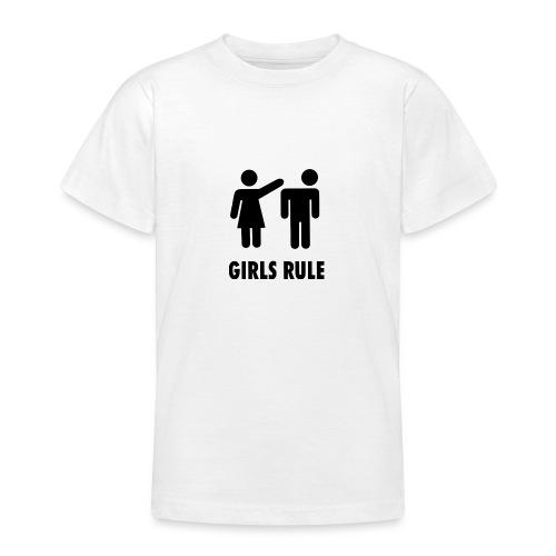 Girl rule - T-skjorte for tenåringer