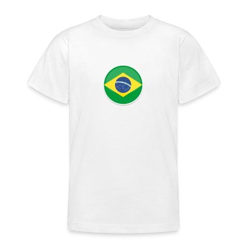 Bandeira do brasil Encontro - Teenage T-Shirt