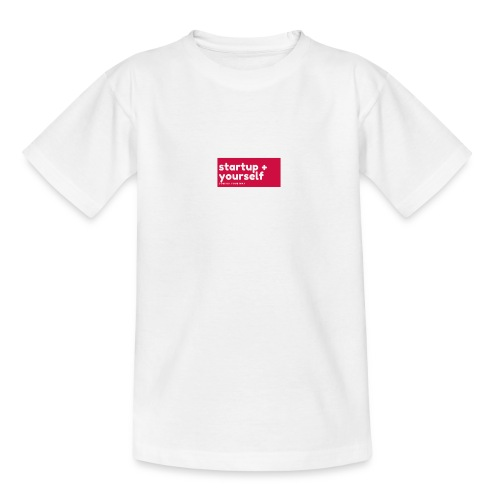 Red White Fashion Logo startup yourself motivation - Teenager T-Shirt