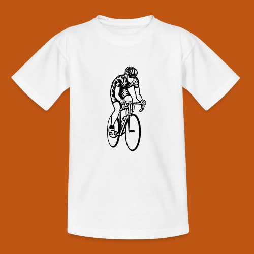 Rennrad / Racing Bicycle 01_schwarz - Teenager T-Shirt