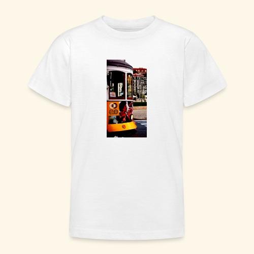 Scorcio tram colorato - Maglietta per ragazzi