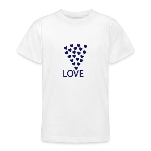 LOVE Herz - Teenager T-Shirt
