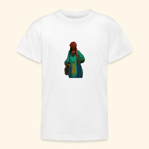 Femme avec sac motif - T-shirt Ado