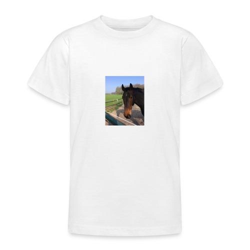 Met bruin paard bedrukt - Teenager T-shirt