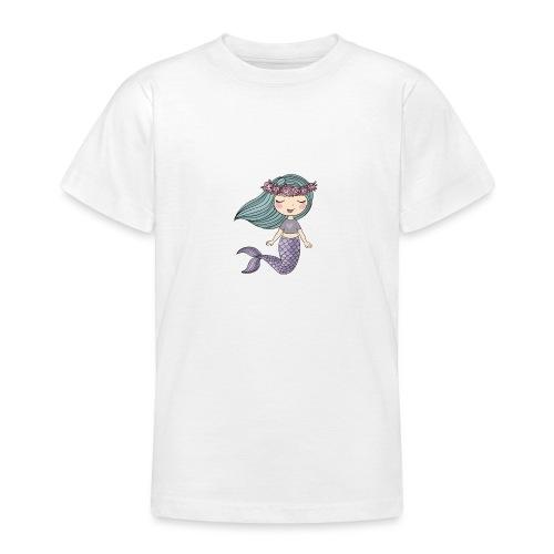 sjöjungfru lila och blå - T-shirt tonåring