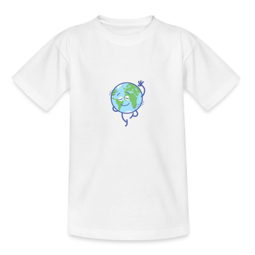 Nice planet Earth rotating graciously - Teenage T-Shirt