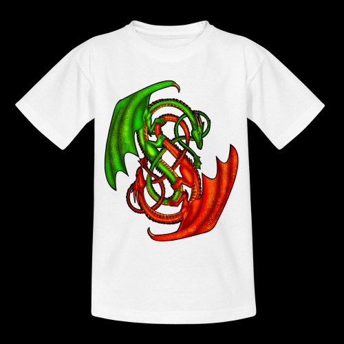 Entwined Dragons - Teenage T-Shirt