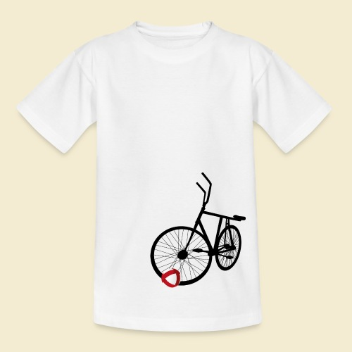 Radball   Black - Teenager T-Shirt