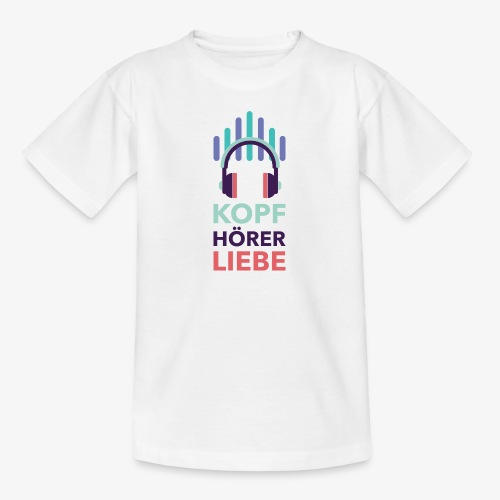 kopfhoererliebe bunt - Teenager T-Shirt