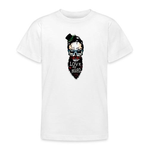 tete de mort hipster citation love my beard humour - T-shirt Ado