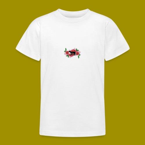 Sakura Leafs, Flowers and Black Tiger Avatar - Teenage T-Shirt